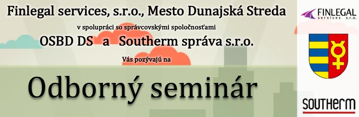 Pozývame Vás na Odborný seminár 21. 6. 2017 do Dunajskej Stredy